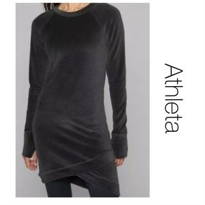 Athleta Velour Criss-Cross Tunic Dress M